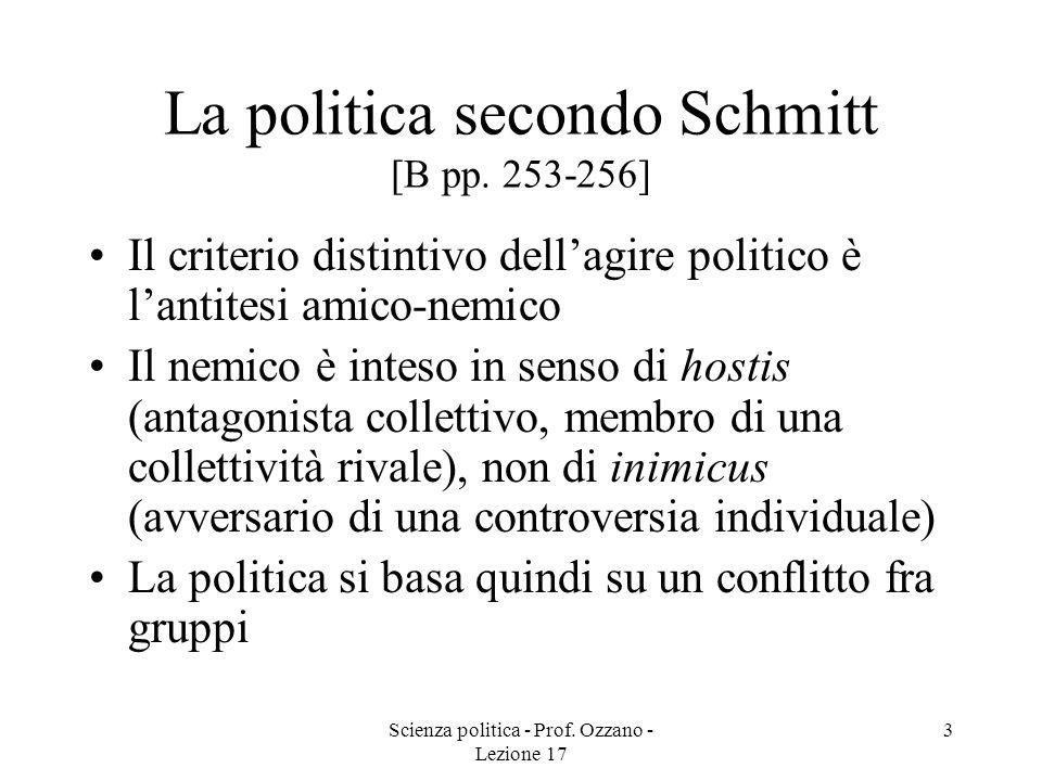 La politica secondo Schmitt [B pp. 253-256]